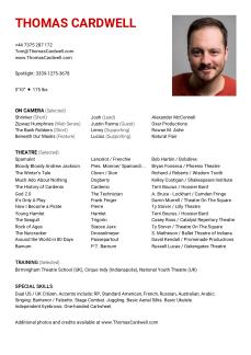 Thomas Cardwell 2019 CV Resume
