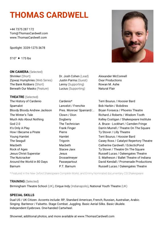 2019 CV Resume